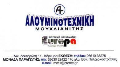 Photo of Κουφώματα Αλουμινίου , Κέρκυρα, Αλουμινοτεχνική Μουχλιανίτης